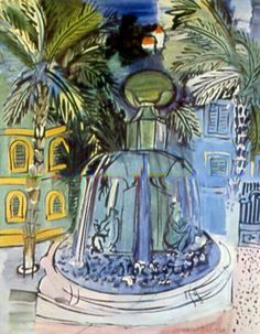 Raoul Dufy.  The Fountain at Hyeres, 1928.