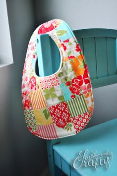 quilted baby bib by Stubbornly Crafty