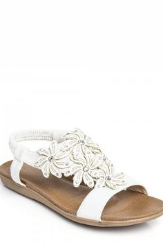 Needthatstyle - White Diamante Flower Sandal, £15.00 (http://www.needthatstyle.com/white-diamante-flower-sandal/)