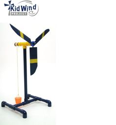 Weight Lifter Wind Turbine - For Kids to Build Science Projects For Kids, Pvc Projects, Engineering Projects, Energy Projects, Science For Kids, Preschool Science, Science Fair, Solar Power Facts, Girl Scout Camping