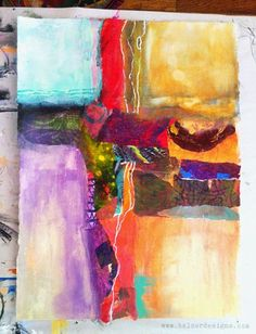 cruciform composition, collage