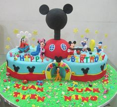 Mickey Mouse Clubhouse Birthday Cake Cupcake Divinity Mickey Mouse Clubhouse Cake - You can find Mickey cakes and. Mickey And Minnie Cake, Mickey Mouse Birthday Cake, Fiesta Mickey Mouse, Mickey Mouse Cupcakes, Mickey Mouse Clubhouse Birthday Party, Mickey Cakes, Mickey Party, Disney Mickey, Minnie Mouse