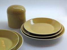 AATAMI, Birger Kaipiainen 1970-73 Plates, Retro, Tableware, Design, Licence Plates, Dishes, Dinnerware, Plate, Rustic