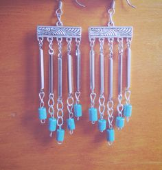 Vintage Silver and Turquoise Earrings by CrystalDaeDreams on Etsy, $14.98