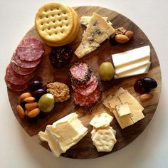 Our Espresso BellaVitano® is featured in the bottom right. It pairs well with crackers, olives, salami and nuts.
