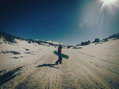 Snowboarding at Perisher Mountain, NSW