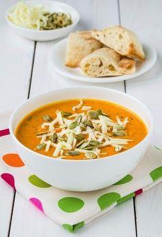 Cream soup of roasted pumpkin