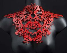 Necklace | Ginta Siceva. Leather. AND AN AESOME IDEA FOR MY OWN WORK!!!