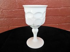Indiana Milk Glass Opaque White Constellation 10 ounce Goblet #IndianaGlass