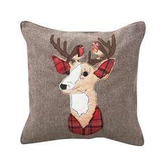 Brown Stag Cushion | Dunelm
