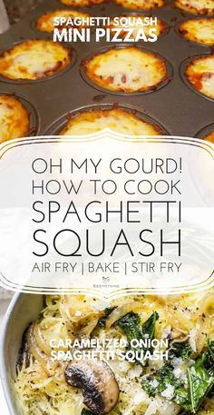 Low Carb Spaghetti Squash Pizza Four Cheese Spaghetti Squash, Best Spaghetti Squash Recipes, Cooking Spaghetti Squash, Best Vegan Recipes, Keto Recipes, Squash Fritters, Pasta Substitute, Air Fryer Dinner Recipes