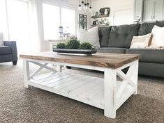 Cool 30+ Rustic Farmhouse Table Ideas To Use In The Decor #refurbishedtable Table Farmhouse, Farmhouse Living Room Furniture, Farmhouse Style Kitchen, Home Living Room, Living Room Decor, Home Furniture, Farmhouse Decor, Modern Farmhouse, Modern Furniture