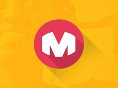 Flat M symbol brand by Thiago Roberto Kolodge