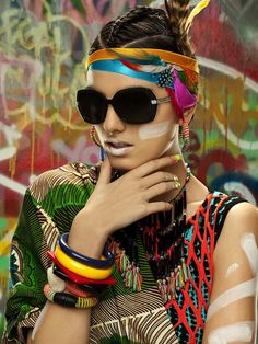 """Photographer Lucia Giacani and stylist Enrica Ponzellini teamed up to produce the """"African Visions"""" editorial for Vogue Accessory."""