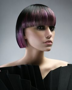 Pretty in purple! Haircolor and design by Val Meades of Montreal, Canada #hotonbeauty hotonbeauty.com