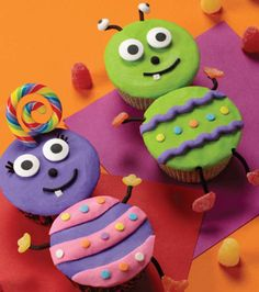 #Cupcakes perfect for a #bug or #monster themed #party!