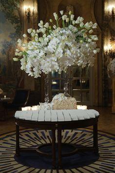 Preston Bailey's Orchids & Tulips escort table