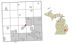 File:Oakland County Michigan Incorporated and Unincorporated areas Sylvan Lake highlighted.svg