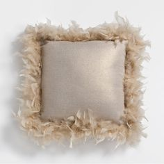 GOLD FEATHERS CUSHION