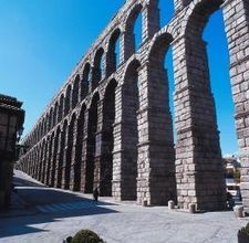 The Roman viaduct, Segovia. Pictures don't really show how massive it is when you're next to it.