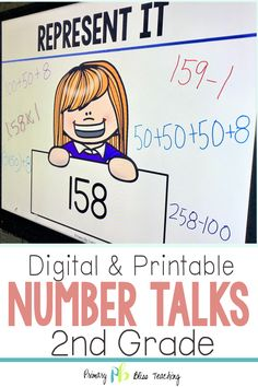 Your Second Grade Students Are Guaranteed To Love These Engaging Math Talk Activities. These Common Core Aligned Math Problems Are Highly Engaging, Fun, And Are The Perfect Way To Get Your Classroom Happily Talking About Math. Snatch Your Set Today Math Fact Practice, Math Talk, Second Grade Teacher, First Grade Math, Grade 2, Teaching Second Grade, Third Grade, Math Lesson Plans, Math Lessons