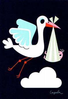http://kidsdinge.com baby print card welcome little one