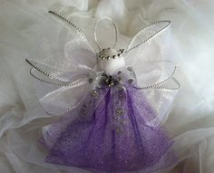 Angel Christmas Ornaments / Christmas Ornament / Holiday Ornament / Purple Angel / International Shipping Available on Etsy, $5.00