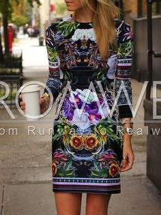 Black Long Sleeve Floral Dress 14.99