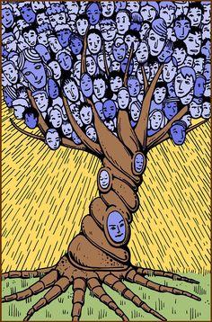 Human tree illustration.