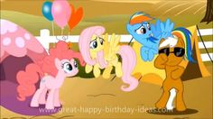 http://www.great-happy-birthday-ideas.com/free-video-ecards.html My Little Pony Birthday Song rap style