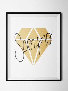 Scorpio Diamond Print
