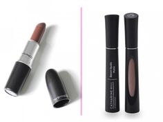 Batom marrom: MAC The Matte Lip (cor: Stone): R$ 73,00 no site da Sephora Batom líquido Catharine Hill (cor: Brigitte): R$ 27,60 no site da marca.