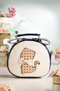 Candy Kisses Kitten Bow Polkadot Cute Handbag 212 30 17949 20160107 0080W