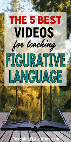 Save time searching for videos to teach figurative language! These top 5 videos will engage your students in identifying and analyzing figurative language and sound devices. Pop songs and movie clips grab students' attention. Teaching Language Arts, English Language Arts, Language Activities, Teaching Writing, Teaching English, German Language, Teaching Spanish, Teaching Ideas, Teaching Literature