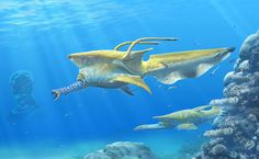 Commission - Tentacle Beak Megafish by Abiogenisis.deviantart.com on @DeviantArt