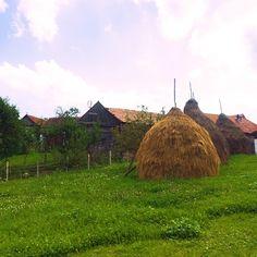 Haystacks in Sibiu countryside, Romania. www.hopinromania,com