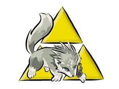 #Legend of Zelda twilight princess #Wolf link #Triforce symbol #Digital