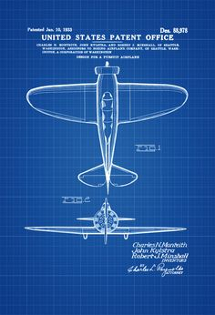 92 best aviation patent prints images on pinterest boeing p 29 patent vintage aviation art airplane blueprint pilot gift airplane poster airplane malvernweather Images