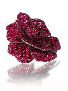 A Ruby Flower Brooch, by JAR