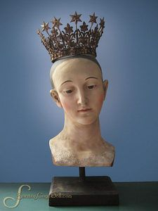 Vintage Style French Madonna Santos Crown, Large