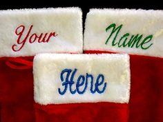 "Personalized Christmas Stockings Custom Name Embroidered 19"" - http://christmasstore.cookingwithian.com/personalized-christmas-stockings-custom-name-embroidered-19/"