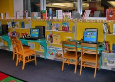 Back to School Library ideas Great elementary library blog in general