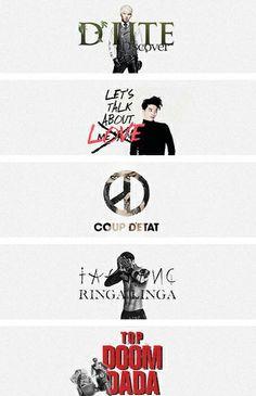 #BIGBANG ♡ G-Dragon , Daesung , TOP , Seungri , and Taeyang .