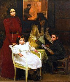 "Joaquín Sorolla y Bastida, ""My Family"""