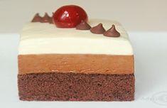 prajitura deluxe reteta video Mousse, No Cook Desserts, Food Cakes, Homemade Cakes, Something Sweet, Butter Dish, Vanilla Cake, Cake Recipes, Cheesecake