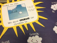 Cloudette, great book for teaching courage and persistence. School Counselor Lessons, Elementary School Counseling, Kindergarten Lessons, Elementary Schools, Iep School, School Social Work, School Fun, Social Skills Activities, Counseling Activities