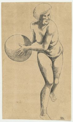 Erich Borchert A female athlete with a ball, 1934. Mixed technique © Photo by the Pushkin State Museum of Fine Arts Read more: h