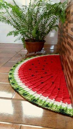 Örgü Paspas Modelleri Örnekleri Çeşitleri El Örgüsü Paspaslar 2019 - 16 Crochet Mat, Crochet Rug Patterns, Crochet Carpet, Diy Crochet And Knitting, Crochet Motifs, Doily Patterns, Crochet Home, Crochet Designs, Crochet Doilies