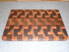 End Grain cutting board made from Walnut and Myrtle.