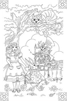 Afternoon Tea With Alice Embroidery Pattern by SewLovelyEmbroidery, via Flickr